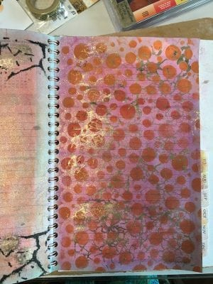 Stencils in journal - right